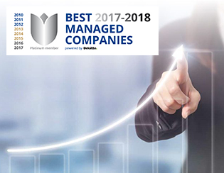 Extremely proud of another year of Best Managed Company recognition!
