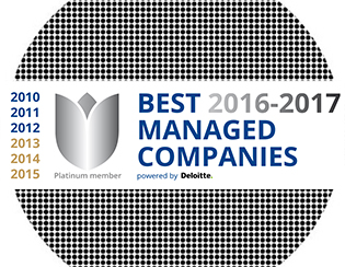 Très fière de l'attribution de Platinum Best Managed Company!
