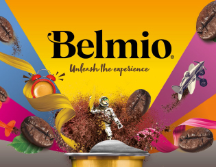 Belmio coffee capsules in a packaging